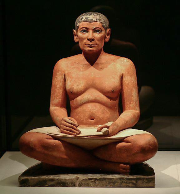 Le scribe assis, premier écrivain public